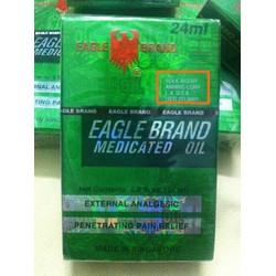 Dầu Gió Con Ó Eagle Brand 2 nắp 24ml xách tay  Mỹ