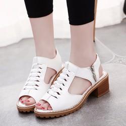 Giày Sandal nữ cutout kiểu dáng thời trang phong cách Hàn Quốc -SG0291