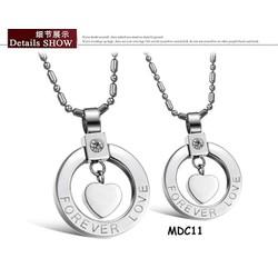 Dây chuyền cặp inox khắc tên MDC11