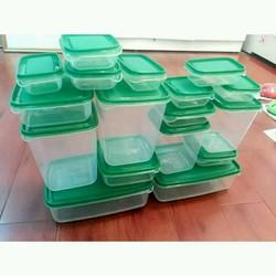 bộ 17 hộp nhựa bảo quản thưc phẩm tủ lạnh