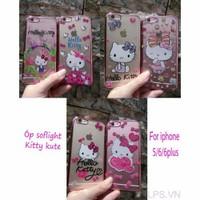 Ốp lưng iPhone 5-5s-se dẻo Kitty đính đá