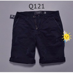KX22 - Quần short kaki nam form body xước nhẹ xanh đen hàng cao cấp