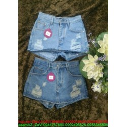 Quần jean short nữ sước nhẹ hàng thái đủ size kQS58