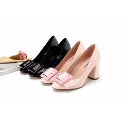 Giày nữ cao gót đế vuông đẹp nhất HOT 2016