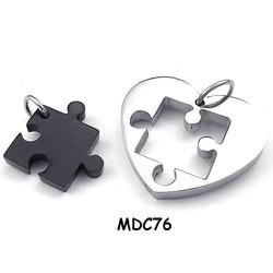 Dây chuyền cặp inox khắc tên MDC76d