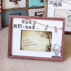 Khung ảnh gỗ Vintage kẹp