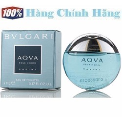 Nước hoa nam mini BVLGARI Aqua Pour Homme Marine EDT 5ml