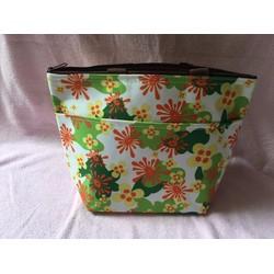 Túi xách giữ nhiệt 2 ngăn họa tiết bông hoa