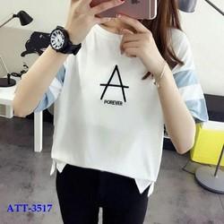 Áo thun nữ in chữ A
