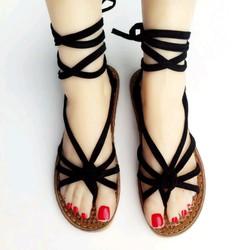 Giày sandal nữ cột dây nhiều màu cao cấp S03