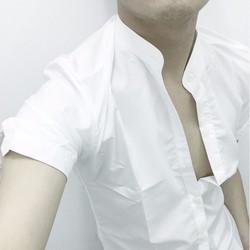 Áo somo tay ngắn xẻ nút tay body không nhăn