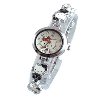 Đồng hồ nữ JW Kitty đen SP227