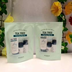 Bộ Kit Sữa Rửa Mặt Và Dưỡng Da Skinfood Tea Tree Cleansing Trial Kit