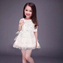 Đầm ren tiên cá-trắng