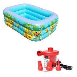 Bể bơi 3 tầng 1m60 khuyến mại bơm điện