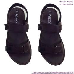Sandal da nam quai ngang mẫu mới bền đẹp