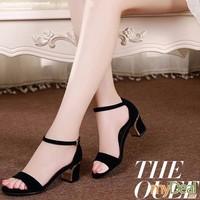 Giày gót vuông viền đế Sweet