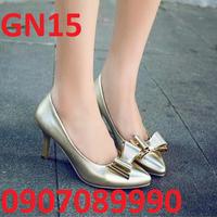 Giày cao gót nơ bướm mẫu mới nhất 2016 - GN15