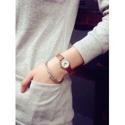 Đồng hồ thời trang dây da nữ giá rẻ