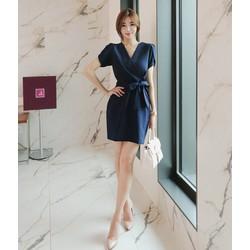 Đầm cổ đắp chéo thời trang KL0216