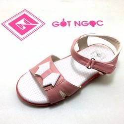 Giày sandal bé gái đính nơ trung D-009-T