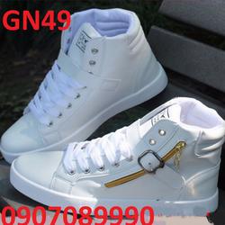 Giày thể thao cao cổ phối dây kéo cực chất hàn quốc - GN49