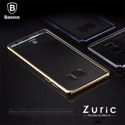 Ốp lưng Galaxy Note 7 lưng cứng trong viền màu hiệu Baseus
