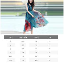 Đầm maxi họa tiết đẹp lung linh MX094