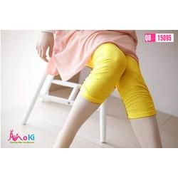 Quần ngố legging bầu trơn chun ống - QB15095 Thun  FreeSize