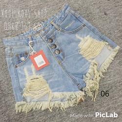 Quầng shorts jean rách cá tính