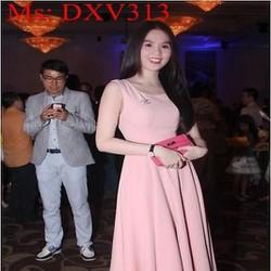 Đầm xòe dự tiệc hở lưng đính nơ xinh đẹp duyên dáng DXV313