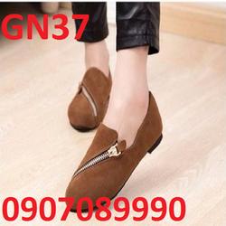 Giày mọi nữ phối dây kéo cực dễ thương - GN37