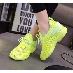 giày sneaker đục lỗ 2 sọc Mã: GT0075 - XANH CHUỐI