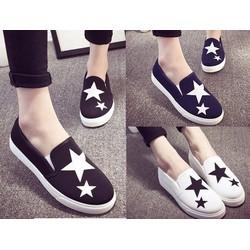 Giày slip on vải ngôi sao