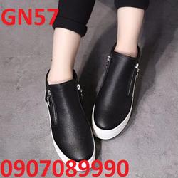 Giày bánh mì đế cao 5cm phối kéo Hàn Quốc - GN57