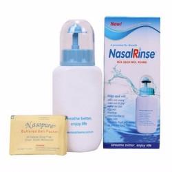 Bộ bình rửa mũi Nasalrinse starter kit