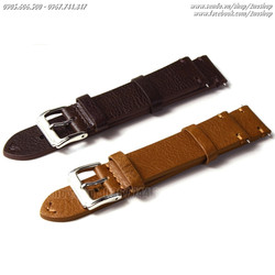 Dây đồng hồ da bò cao cấp 18mm, 20mm, 22mm  - Mã số: D1610