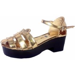 Giày Chiến Binh Sandal Nữ Đế Bánh Mì Vuông Cao Gót 5cm