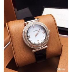 Đồng hồ nữ dây da đính hạt