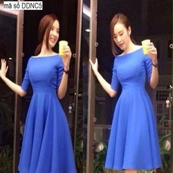 Đầm xòe dự tiệc bẹt vai xinh như Phương Trinh DXV225
