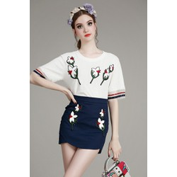THỜI TRANG CAO CẤP- Set Áo Kiểu và Váy Ôm Cao Cấp A60442