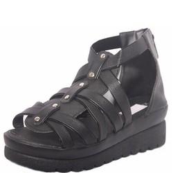 Giày Chiến Binh Sandal Quai Hậu Nữ Đế Bánh Mì Cao 4cm