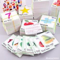 Bộ thẻ học 16 chủ đề thông minh cho bé|bộ thẻ học cho bé|bộ thẻ học