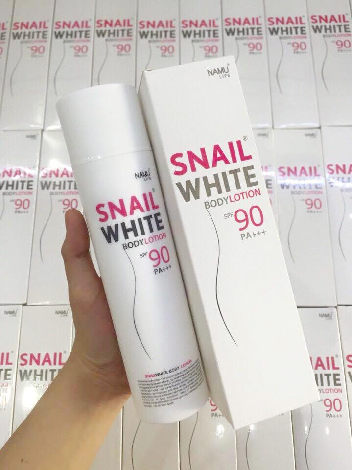 Kem dưỡng thể Snail white body lotion spf90 PA +++ 1