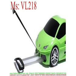Valy kéo hình xe hơi nhựa cao cấp vừa tay cầm và dây kéo VL218