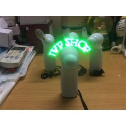 Quạt đèn led cầm tay chạy chữ tuỳ ý
