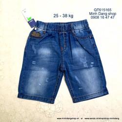 Quần short jean lưng thun wax nhẹ