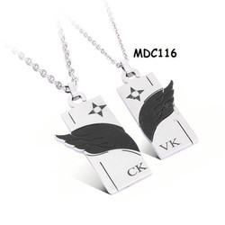 Dây chuyền đôi inox khắc tên MDC116
