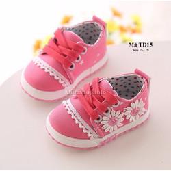 Giày tập đi cho bé gái 6 - 24 tháng kiểu dáng thể thao TD15