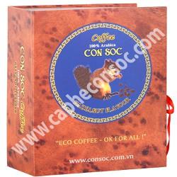 Cà phê con sóc bột 100 Arabica 500gr Nâu